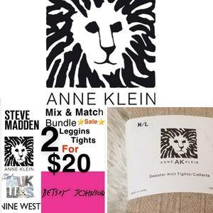 Anne Klein Sweater Tights Beige